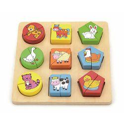 Drvene puzzle 18 dijelova- farma