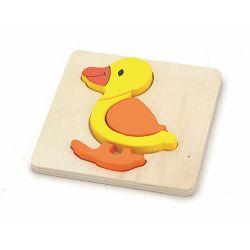 Drvene puzzle 4 dijela - patka