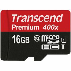 Memorijska kartica Transcend SD MICRO 16GB HC Class UHS 1 +