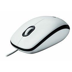 Miš žični Logitech M100 white