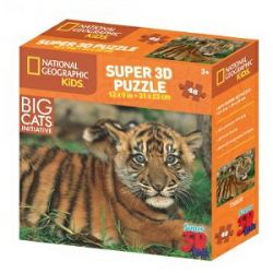 Puzzle 3D - tigar National Geographic Kids