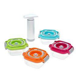 Set vakuumskih posuda za dječju hranu Status + pumpa