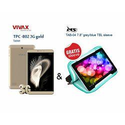 VIVAX tablet TPC-802 3G gold + gratis sleeve