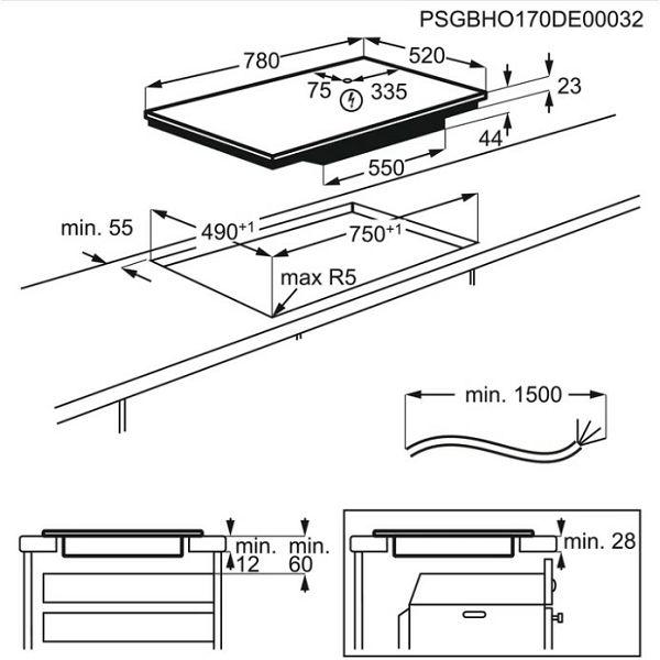 Električna ploča Electrolux EIV854 indukcija