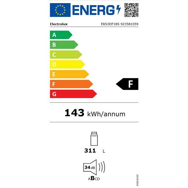 Hladnjak ugradbeni Electrolux ERS3DF18S DynamicAir
