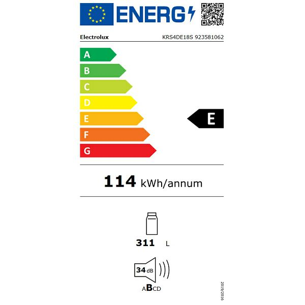 Hladnjak ugradbeni Electrolux KRS4DE18S OptiSpace