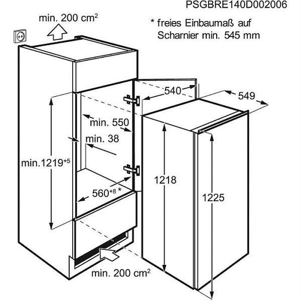 Hladnjak ugradbeni Zanussi ZBA22422SA