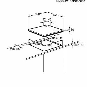 Kombinirana ploča Electrolux EGD6576NOK, indukcija