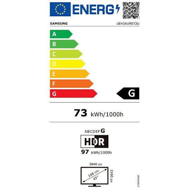 LED televizor Samsung UE43AU9072UXXH Crystal UHD 4K Smart TV