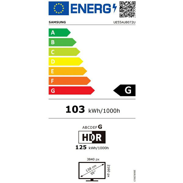 LED televizor Samsung UE55AU8072UXXH Crystal UHD 4K Smart TV