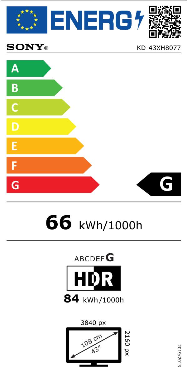 LED televizor Sony KD43XH8077SAEP Android