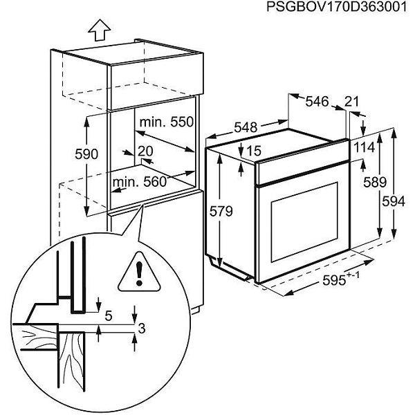 Pećnica AEG BPB351120M piroliza