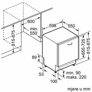 Perilica posuđa ugradbena Bosch SMV46GX03E