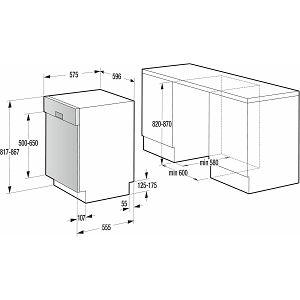 Perilica posuđa ugradbena Gorenje GI64160